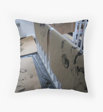 Night & Nap Drawings - blindfolded - Great Size with Acrylic in my little studio !!!  Throw Pillow