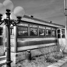 Black and White Diner HDR photography by jemvistaprint