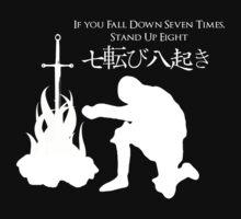 If You Fall Down Seven Times, Stand Up Eight White by Derek Mitchell