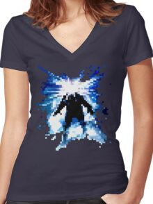 Pixel Thing Women's Fitted V-Neck T-Shirt