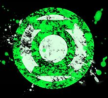 JLA Digital Splatter Series Green Lantern by justin13art