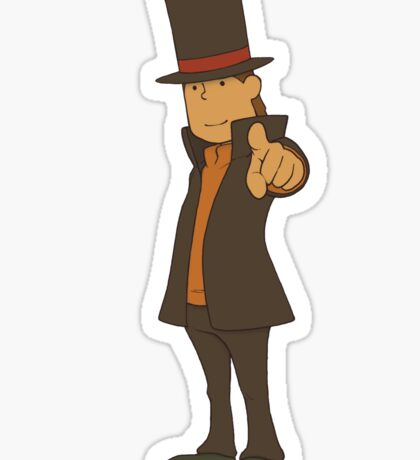 Professor Layton Sticker