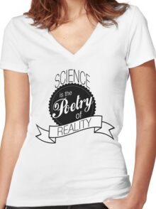 Science Poetry of Reality (mugs) Women's Fitted V-Neck T-Shirt
