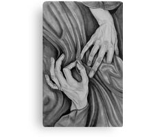 stitch in time . . . . hand portrait Canvas Print