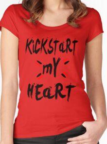 KICKSTART MY HEART Women's Fitted Scoop T-Shirt