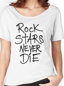 ROCKSTARS NEVER DIE Women's Relaxed Fit T-Shirt