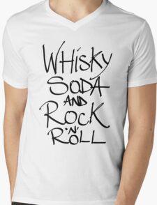 WHISKY SODA AND ROCK N ROLL Mens V-Neck T-Shirt