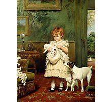 Girl with Dogs Photographic Print