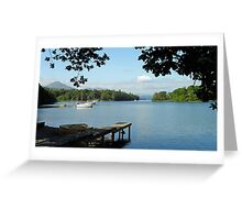 Coniston Water, looking north from Lake Bank, Lake District National Park, Cumbria, UK Greeting Card