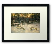 The Shortening Winter's Day is Near a Close Framed Print