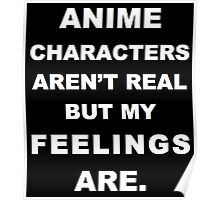 Anime Characters Aren't Real But My Feeling Are. Poster