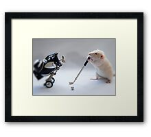I love golf! Framed Print