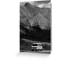 80's VW Van In The Mountains Greeting Card