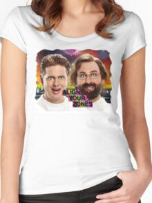 Tim And Eric- Zone Theory Women's Fitted Scoop T-Shirt