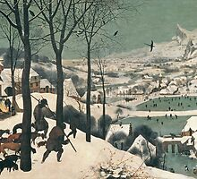 Hunters in the Snow by Bridgeman Art Library