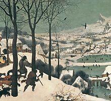 Hunters in the Snow by Bridgeman Art Library