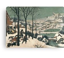 Hunters in the Snow Canvas Print