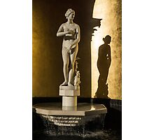 Venus de' Medici and Her Shadow  Photographic Print