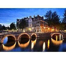 Nightly Amsterdam Photographic Print