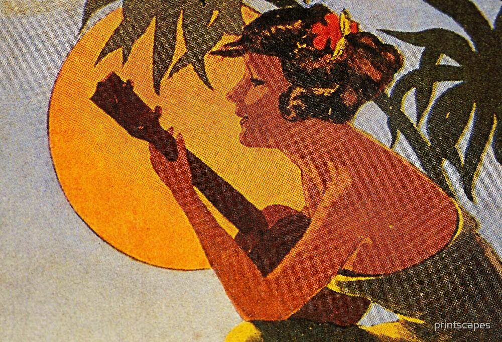 Hula Girl Playing the Ukulele by printscapes