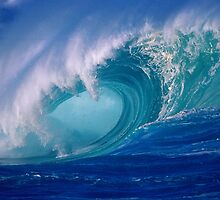 Powerful Hawaiian North Shore Wave by printscapes