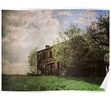 Forgotten House rural decay haunted house Halloween art Poster