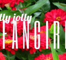 Holly Jolly Fangirl Sticker