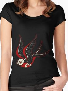 Bone Kandi Swallow Women's Fitted Scoop T-Shirt