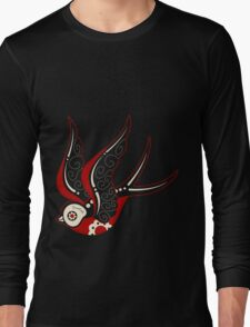 Bone Kandi Swallow Long Sleeve T-Shirt