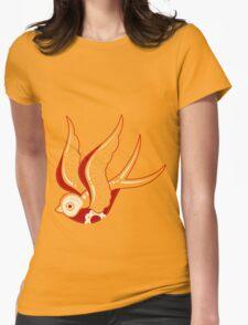 Bone Kandi Swallow Womens Fitted T-Shirt