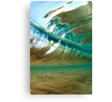 View Inside a Perfect Wave Canvas Print