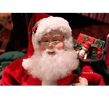 Santa ~ Talk to the Man in Red Photographic Print