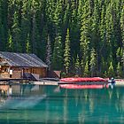 At Lake Louise, Alberta, Canada by Gerda Grice
