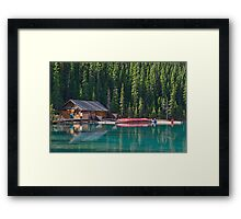 At Lake Louise, Alberta, Canada Framed Print