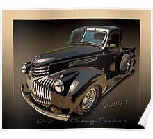 1942 Chevy Pickup Rat Rod Poster