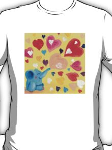 Love - Rondy the Elephant with colorful hearts T-Shirt