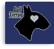 Bull Terrier <3, outlined! Canvas Print