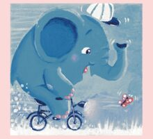 Cycling - Rondy the Elephant on his bike Kids Clothes