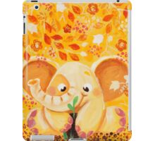 Gardening - Rondy the Elephant growing a plant iPad Case/Skin