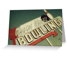 Wagon Wheel Bowling Greeting Card