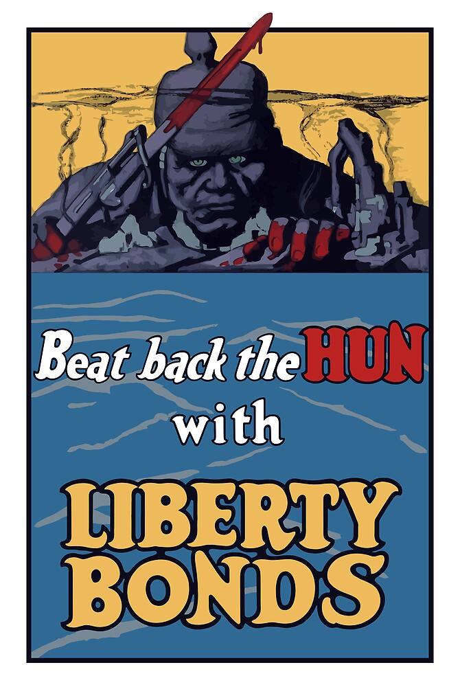 Beat Back The Hun With Liberty Bonds -- WWII by warishellstore