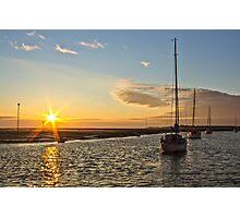 Hightown beach sunset Photographic Print