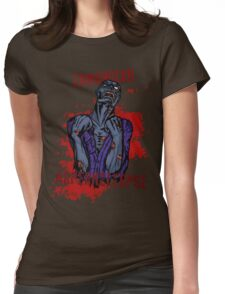 Zombie Apocalypse Womens Fitted T-Shirt
