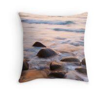 Na Pali Coast Ocean and Rocks Throw Pillow