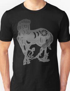 Chinese Zodiac Horse Papercut Unisex T-Shirt