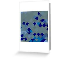Blue Pigment Abstract Low Polygon Background Greeting Card