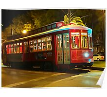 Canal St. Streetcar at Night Poster