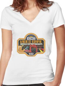 ENCOM Video Game Championships Women's Fitted V-Neck T-Shirt
