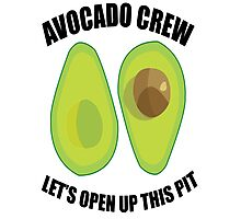 Avocado Crew Photographic Print