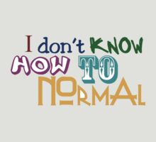 I don't know how to normal by digerati